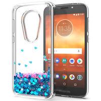 Dynamic Liquid Glitter Quicksand Bling Case Cover For Motorola Moto E5 Play/Plus
