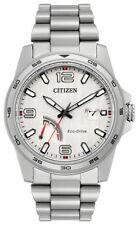 Citizen Eco-Drive Men's PRT Calendar Date Silver Dial 42mm Watch AW7031-54A