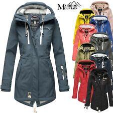 Marikoo Damen Softshell Jacke Winter Jacke Regenjacke Parka Kapuze NEU ZIMTZICKE