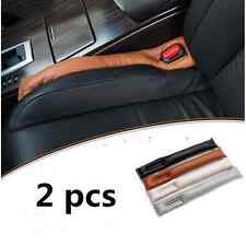 2x Leather Car SUV Seat Console Gap Filler Soft Pad Drop Holster Blocker Black