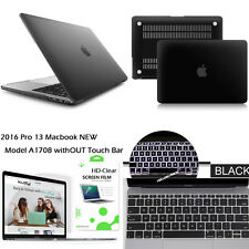 3in 1 Bundle Frosted Black Felt Case+Keyboard+LCD 2016 Macbook Pro 13inch A1708
