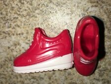 BArbie Red Tennis Gym Athletic Shoes Faux White Laces Boots School Accessory