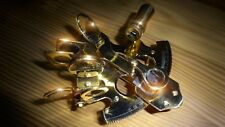 Sextant, Handgefertigt, Messing, Echtglas (ca. Ø12 cm, H: 6 cm), Antik, Maritim