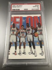 1991 Skybox Team USA 2 Jordan Magic Stockton Malone #545 PSA 10 GEM MINT! 🔥