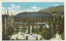 Linen Postcard A882 Great Mormon Tabernacle Sea Gull Monument Salt Lake City UT