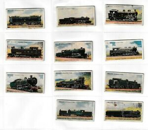 11 x WD & HO Wills Cigarette Cards – Railway Engines – 1924 – Listed – H2