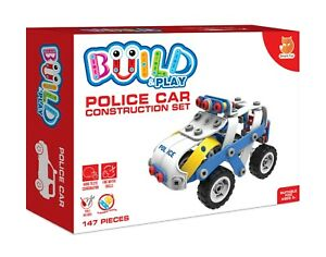 Police Car Construction set Build and Play Childrens Toy Age 5+