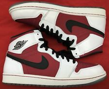 2014 Jordan Retro 1 High OG Carmine Red Black White Bred 6 VI 555088-123 Sz 12