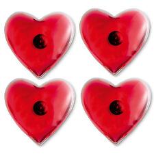 Set of 4 Reusable Heart Shape Heat Pads/Hand Warmers Skiing/Handwarmers