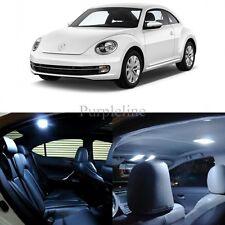 5 x Xenon White LED Interior Light Package For 2012 - 2014 Volkswagen VW Beetle