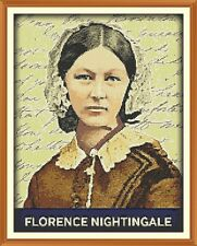 Florence Nightingale cross stitch chart 12.0 x 9.4 in (environ 23.88 cm)