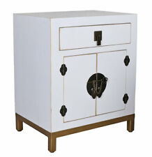 Nightstand Chinese Wedding Cabinet White Night Console Bedside Table Asian