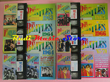 6 VHS+INSERTI THE BEATLES 1964 - 1970 edizioni center tv 6X 60 MINUTI cd mc dvd
