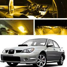 For 06-07 Subaru Impreza AWD STI WRX LED Xenon Yellow Light Bulb Interior Kit
