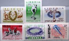 LIBERIA 1956 498-03 B 358-61 C104-5 IMPERF Olympics Melbourne Discus Stadium MNH