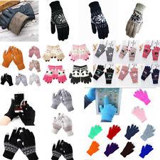 Winter Warm Touch Screen Gloves Women Man Knit Thermal Full Finger Fleece Mitten