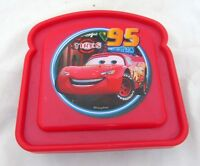 Disney Cars Lightning McQueen Kids Sandwich Keeper Lunch Holder Snack Container