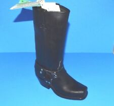 (RARE) DOUBLE -H WOMEN'S LONGHORN HARNESS BOOT, BLACK LEATHER,SIZE 6 M, 5008