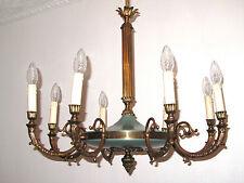Antik Französische Messing Empire Kronleuchter, Lüster 8 Flammig