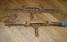 Pair Newhouse Steel Traps #3 Size Double Longspring Antique