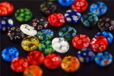 10pcs Colorful Glass Flower Millefiori Beads Craft Jewelry Findings 10mm