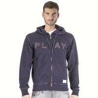 Felpa uomo CARRERA jeans taglia L tutte le stagioni zip e cappuccio vintage 700
