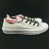 Converse Chuck Taylor All Star II 2 CTAS OX Low White Grey White Pink 154015C