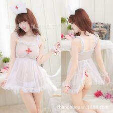 Transparent gauze nurse clothes Sexy Lingerie Women Maid Uniform Sexy Costumes