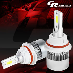 2 PCS 6000K 9004 WHITE LED HIGH/LOW BEAM HEADLIGHT REPLACEMENT BULB +COOLING FAN
