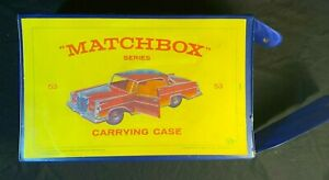 Vintage 1965 Matchbox Series 53 Carrying Case for 40 Cars