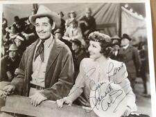 Claudette Colbert SIGNED  Photo 30s Movie Actress with Clark Gable Boomtown 1940