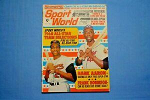 1968 Sports World Hank Aaron & Frank Robinson on cover ex