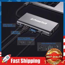 10 in 1 USB-C Type-C USB 3.0 Hub 4K HDMI RJ45 Ethernet VGA SD TF OTG Adapter
