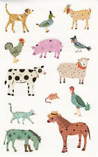 Mrs. Grossman's Turnowsky Stickers - Farm Friends - Horse, Cow, Sheep - 2 Strips