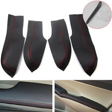 For Honda Civic 06-11 Door Armrest Cover Stitching PU Leather Surface Shell Trim