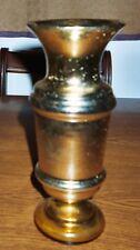 "Gold ""Mercury Glass"" Vase; 9 1/2"" Tall; Lite/No Stopper"
