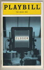 "Natasha Richardson  Playbill ""Closer"" 1999"