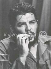 Che Guevara Cuban Military Revolution Poster  18x24 B/W with Cigar