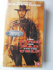 The Good Bad And The Ugly VHS WITH ELI WALLACH, REMASTERED (V.G.C.)