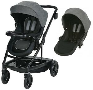 Graco Baby UNO2DUO Twin Tandem Double Stroller w/ Second Seat Ellington  NEW
