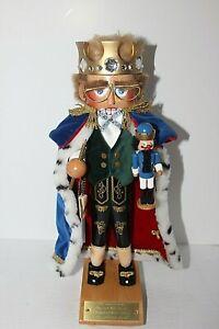 """Vtg 1996 Steinbach Nutcracker """"Nutcracker King"""" Signed by Christian Steinbach"""