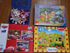 WoW 4x Ravensburger Disney MB Kinder Puzzle Cars Winnie Pooh 3-5 Jahre Kleinkind