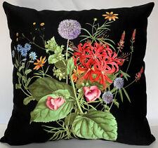 Elegant Decorative Velvet Floral Pillow Cover Double Sides Flower Pillow cases