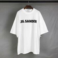 Unisex Casual JIL SANDER Kurzarm Baumwoll Loose Kurzarm T-Shirt