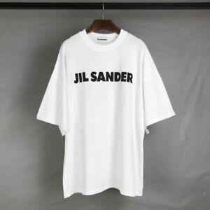 Unisex casual JIL SANDER Kurzarm Baumwoll Loose Kurzarm T-Shirt 2020