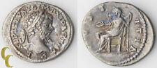 """198-200 AD Septimius Severus AR Denarius (Extra Fine, XF) Laodicea """"IVSTITIA"""""""