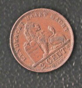 BELGIUM 2 CENTIMES 1910