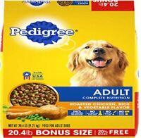 Pedigree Adult Dry Dog Food - Roasted Chicken, Rice & Vegetable Flavor 20.4 lb.