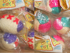 Wholesale Cat Toys - Sisal Cat Balls - Lot of 12 - Includes 6 of Each Style
