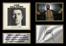 More details for liam gallagher as you were tour 2018 signed autographed framed print gift a4 a3